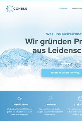 Alte Conblu Webseite